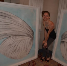 Photo: The Artist and Her Wings